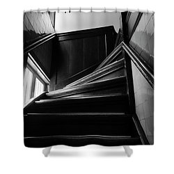 Shower Curtain featuring the photograph Stairway In Amsterdam Bw by RicardMN Photography