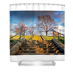 Stairway To Federal Hill Shower Curtain by Brian Wallace