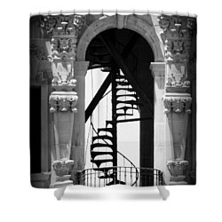 Stairway To Heaven Bw Shower Curtain