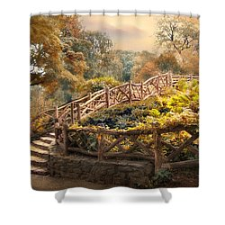 Stairway To Heaven Shower Curtain by Jessica Jenney