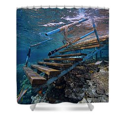 Shower Curtain featuring the photograph Stairway To Heaven by Rico Besserdich
