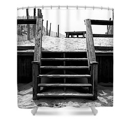 Stairway To Lbi Heaven Shower Curtain by John Rizzuto