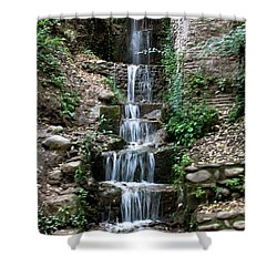 Stairway Waterfall Shower Curtain