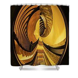 Stairwell Distorted Shower Curtain