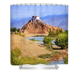 Shower Curtain featuring the photograph Stakna Monastery by Alexey Stiop