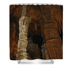 Stalacmites In Luray Caverns Va  Shower Curtain by Ausra Huntington nee Paulauskaite