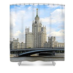Kotelnicheskaya Embankment Building Shower Curtain