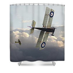 Shower Curtain featuring the digital art Stalked - Se5 And Albatros Dlll by Pat Speirs