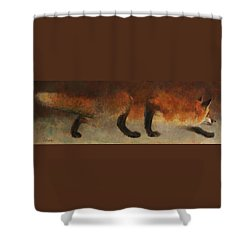 Stalking Fox Shower Curtain