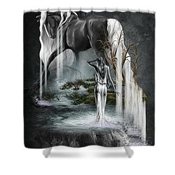 Stallion Falls Shower Curtain