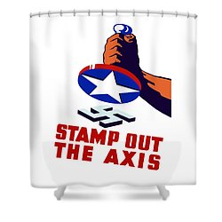 Stamp Out The Axis Shower Curtain by War Is Hell Store