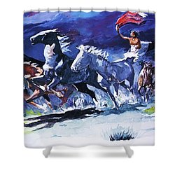 Stampede By Moonlight Shower Curtain