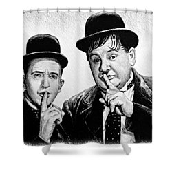 Stan And Ollie Shower Curtain