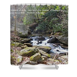 Stand Like A Rock Shower Curtain