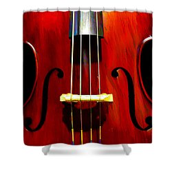 Stand Up Bass Shower Curtain by Bill Cannon