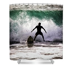 Standby Surfer Shower Curtain by Jim Albritton