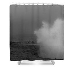 Standing Against Nature Shower Curtain
