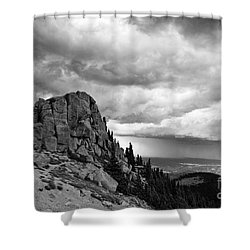 Standing Against The Storm Shower Curtain by Scott Pellegrin