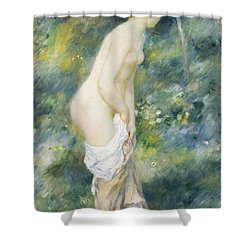 Standing Bather Shower Curtain by Pierre Auguste Renoir