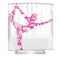 Yoga Pose Asana Standing Bow Pose Shower Curtain