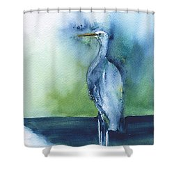 Standing Crane Shower Curtain by Frank Bright