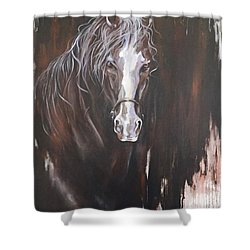 Standing Firm Shower Curtain by Heather Roddy