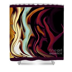 Standing In Line Shower Curtain by Linda  Parker
