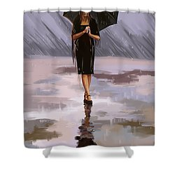 Standing-in-the-rain Shower Curtain