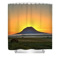 Standing In The Shadow Shower Curtain by Fiskr Larsen