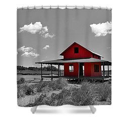 Standing Out All Alone Shower Curtain by Catie Canetti