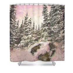 Standing Tall Shower Curtain by Annette Berglund