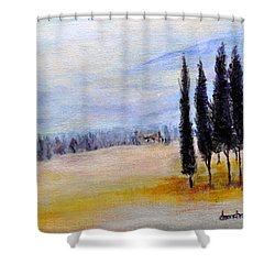 Standing Tall Shower Curtain by Dottie Branchreeves