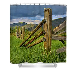 Standing The Test Of Time Shower Curtain by John Roberts