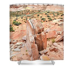 Shower Curtain featuring the photograph Standup Sandstone In Valley Of Fire by Ray Mathis