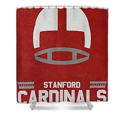 Stanford Cardinals Vintage Football Art Shower Curtain