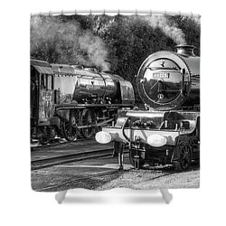 Stanier Pacifics At Swanwick Shower Curtain