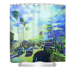 Stanley And Sunset Shower Curtain