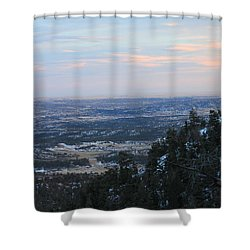 Stanley Canyon View Shower Curtain by Christin Brodie