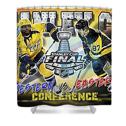 Stanley Cup 2017 Shower Curtain by Don Olea