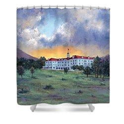 Stanley Hotel Sunset Shower Curtain