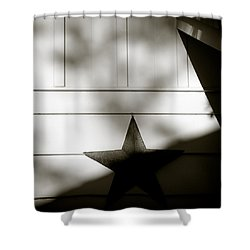 Star And Stripes Shower Curtain by Dave Bowman
