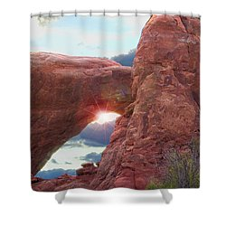 Star Arch Shower Curtain