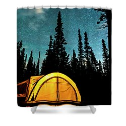 Shower Curtain featuring the photograph Star Camping by James BO Insogna
