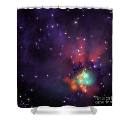 Star Cluster Shower Curtain by Corey Ford