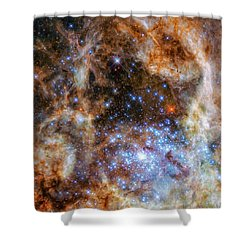 Shower Curtain featuring the photograph Star Cluster R136 by Marco Oliveira