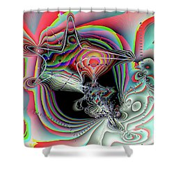 Shower Curtain featuring the digital art Star Defomation by Ron Bissett