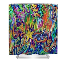 Star E Nite Shower Curtain