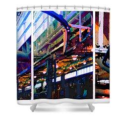 Star Factory Shower Curtain by Steve Karol