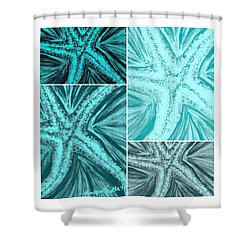 Starfish Pop Art Shower Curtain