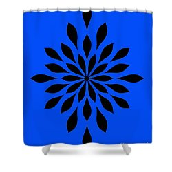 Star Flower Blue  Shower Curtain